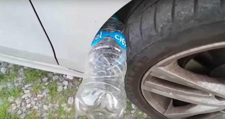 Ако видите пластмасова бутилка в гумата си, бързо се обадете в полицията!